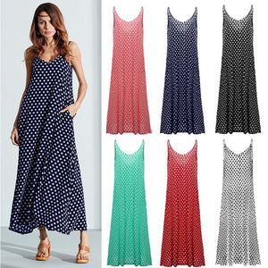 Spaghetti Strap Polka Dot Dress