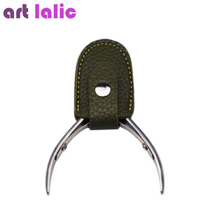 1PC Nipper Leather Cover Protective Sleeve Nail Cuticle Scissors Manicure Pedicure Tool