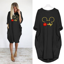 Cute Mickey Loose Dress with Pocket Plus Size