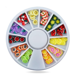 3d Polymer Clay Fimo Fruit Slicing Wheel,5mm 120pcs Nail Decorations