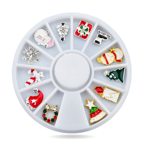 Christmas 3D Alloy Nail Art Decorations Wheel