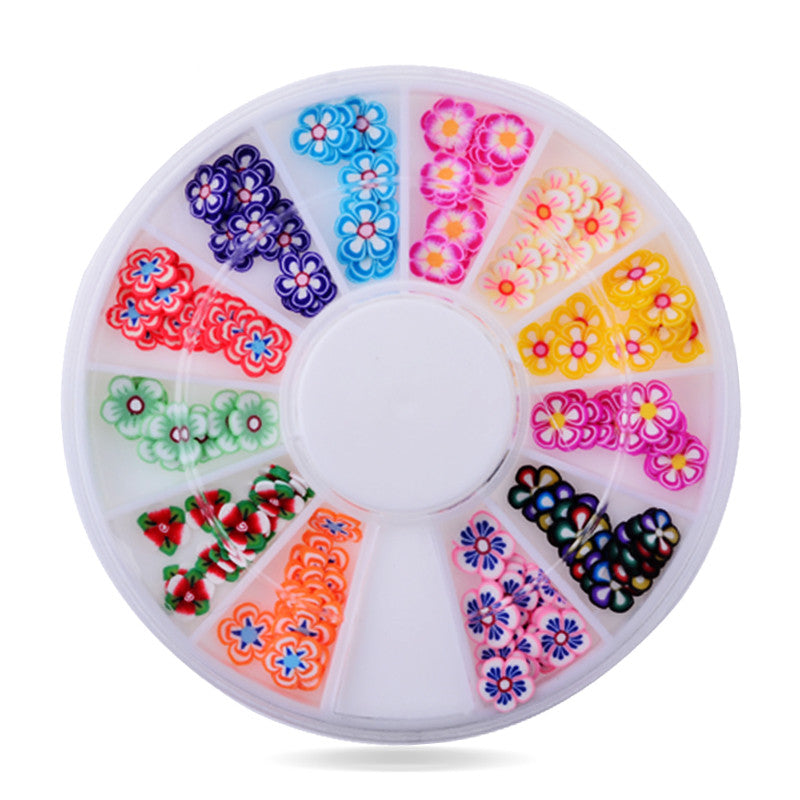 Fimo Polymer Clay Nail Art Flowers,5mm 120pcs 3d mix designs