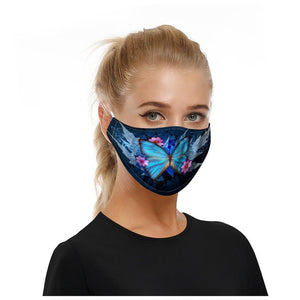 Unisex Adult Butterfly Face Mask (Mascarilla) Washable/Reusable Adjustable Earloops