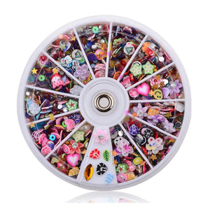 Fimo Clay Nail 3D Decorations Slice Wheel