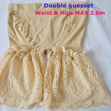 Female Plus Size Lace Elastic Anti-Chafing Safety Shorts