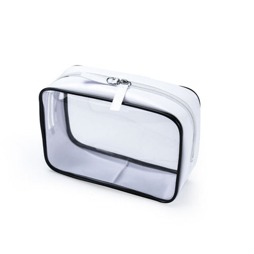 Travel Cosmetic Bag Makeup Case Zipper Clear Plastic PVC