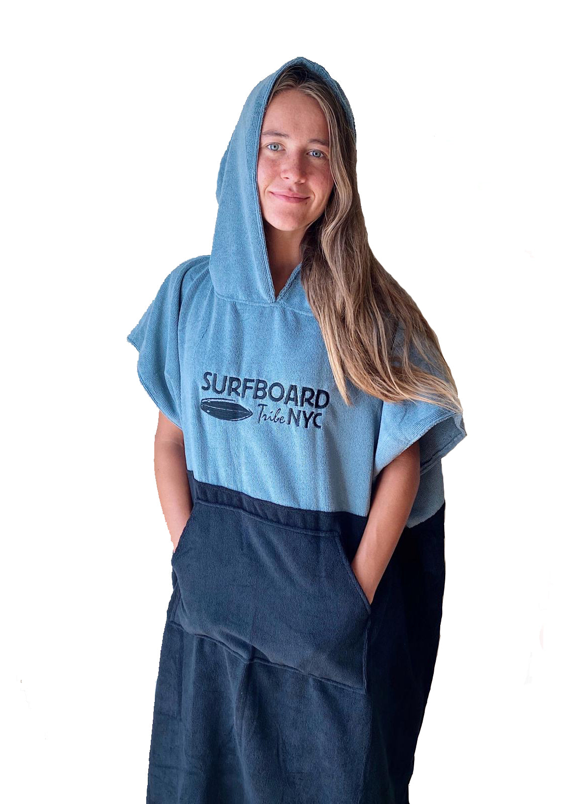 Unisex Two Tone Hooded Changing Towel - One Size