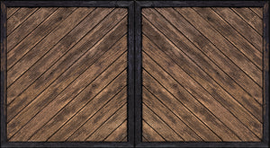 Wood Gate System (2 Doors with Posts)