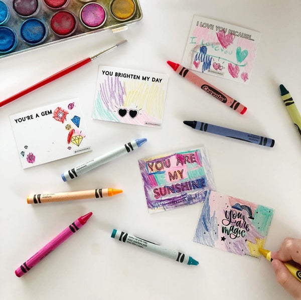 Color Your Own Valentine's Day Love Notes