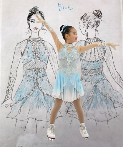 Fully Customized Figure Skating Dress: Production (2nd Step)