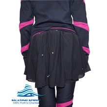Load image into Gallery viewer, Padded Ice Skating Shorts Crash Pants With Mash Skirt - Skate with Confidence and Style