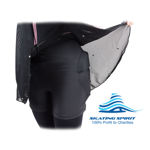 Padded Ice Skating Shorts Crash Pants With Mash Skirt - Skate with Confidence and Style