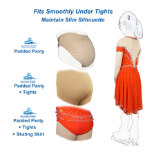Load image into Gallery viewer, Skating Competition Panties with Padded Tailbone Cushion - Skate with Confidence