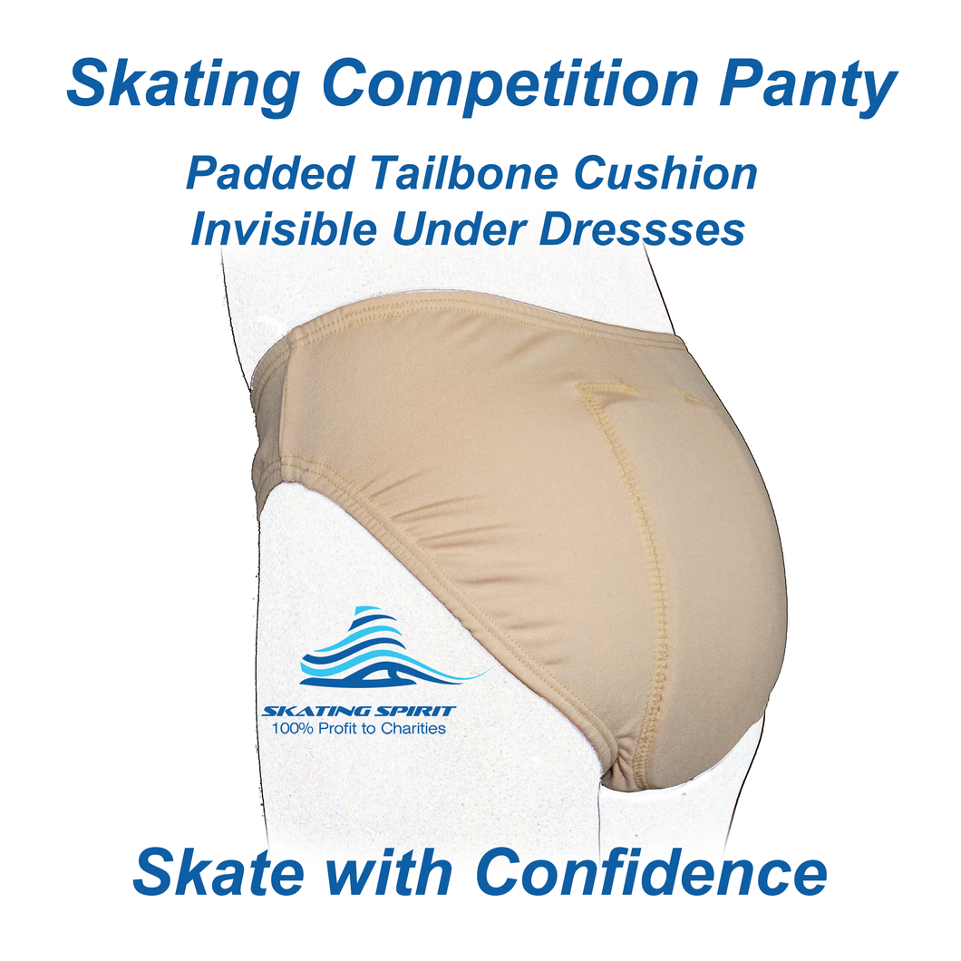 Skating Competition Panties with Padded Tailbone Cushion - Skate with Confidence