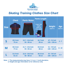Load image into Gallery viewer, Two-tone Skating Training Outfit with Built-in Butt/Hip Pads