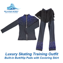 Load image into Gallery viewer, Luxury Skating Training Outfit with Built-in Butt/Hip Pads
