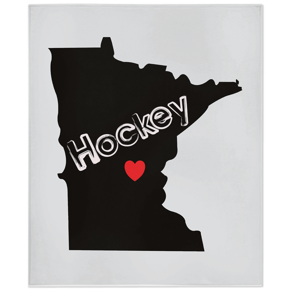 Minnesota Hockey Minky Blanket