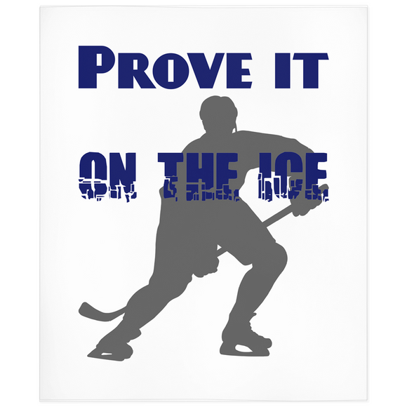 Prove It On The Ice Hockey Minky Blanket