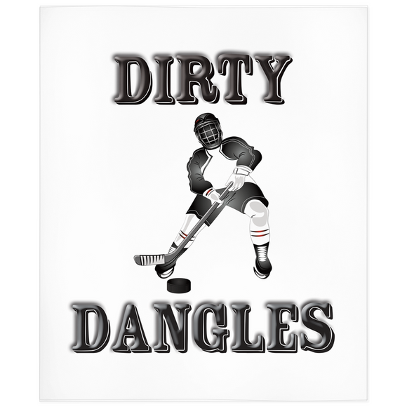 Dirty Dangles Hockey Minky Blanket