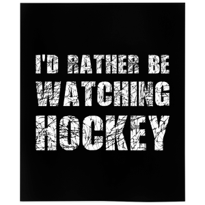 I'd Rather Be Watching Hockey Minky Blanket