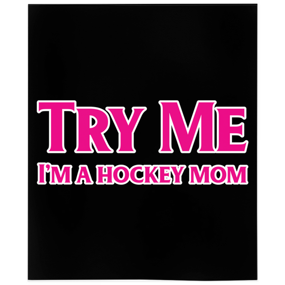Try My I'm A Hockey Mom Minky Blanket