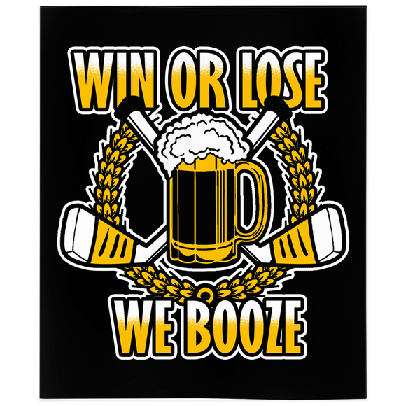 Win Or Lose We Booze Adult Hockey Minky Blanket