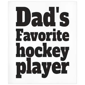 Dad's Favorite Hockey Player Minky Blanket