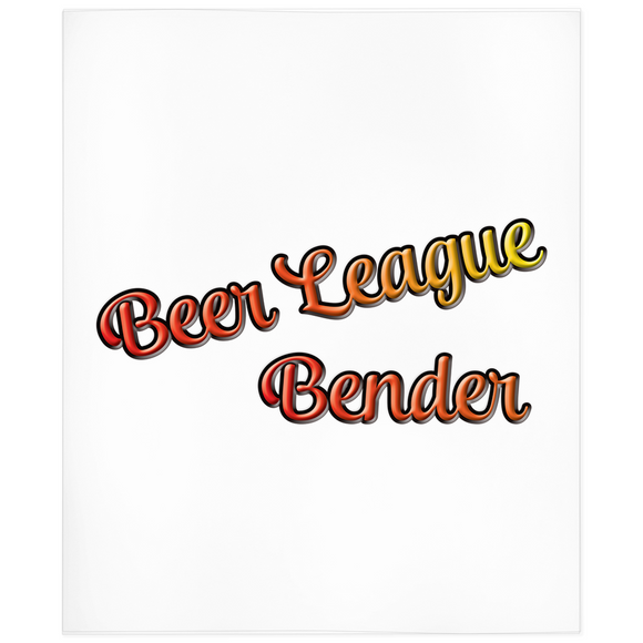 Beer League Bender Adult Hockey Minky Blanket