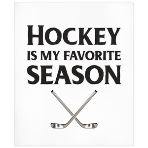 Hockey Is My Favorite Season Minky Blanket