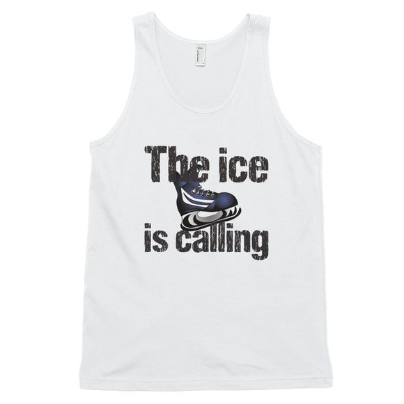 The Ice is Calling Hockey Classic tank top (unisex)