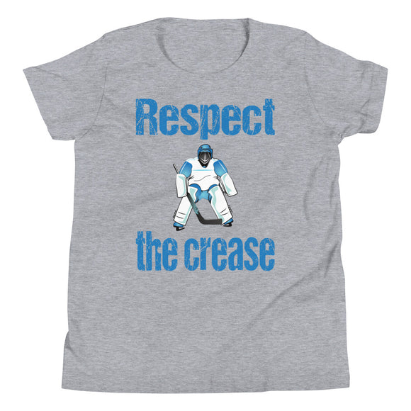 Respect the Crease Hockey Goalie Youth Short Sleeve T-Shirt