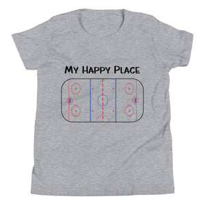 My Happy Place Hockey Youth Short Sleeve T-Shirt