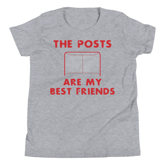 Hockey Goalie The Posts Are my Best Friends Youth Short Sleeve T-Shirt