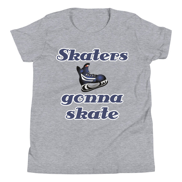 Skaters Gonna Skate Hockey Youth Short Sleeve T-Shirt