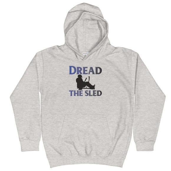 Dread the Sled Hockey Kids Hoodie Hooded Sweatshirt