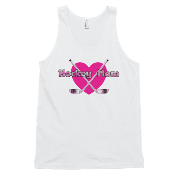 Hockey Mom Pink Heart Classic tank top (unisex)
