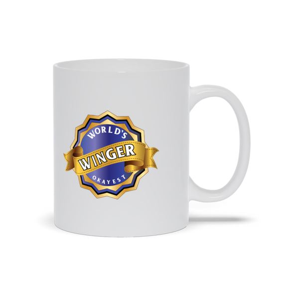 World's Okayest Winger Ceramic Coffee Mug