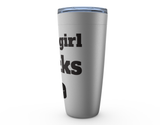 This Girl Pucks Hockey Viking Tumbler Travel Mug