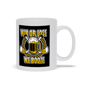 Win or Lose We Booze Beer League Hockey Ceramic Coffee Mug