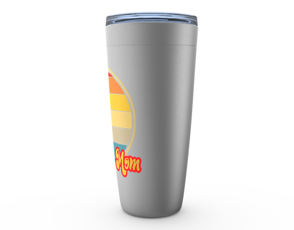 Hockey Mom Sunset Viking Tumbler Travel Mug