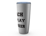 I Coach They Play You Cheer Viking Tumbler Travel Mug