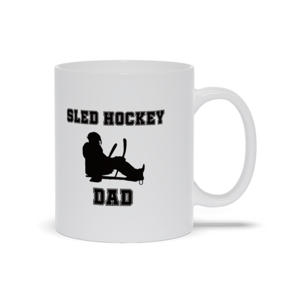 Sled Hockey Dad Ceramic Coffee Mug