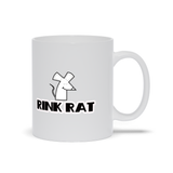Rink Rat Hockey Figure Skating Ceramic Coffee Mug