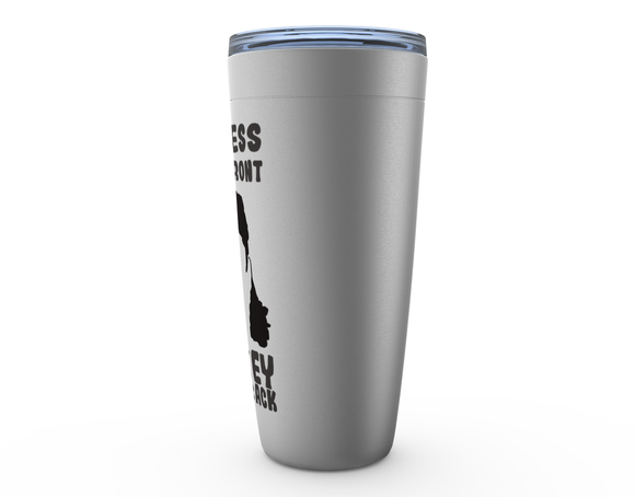 Business in the Front Hockey in the Back Hockey Hair Viking Tumbler Travel Mug
