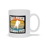 Best Puckin Grandpa Ever Hockey Ceramic Coffee Mug