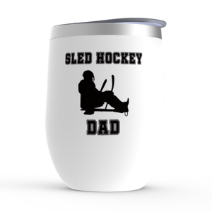 Sled Hockey Dad Stemless Wine Tumbler