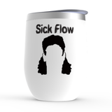 Sick Flow Hockey Hair Stemless Wine Tumbler