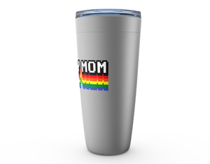 Hockey Mom Arcade Pixel Art Viking Tumbler Travel Mug