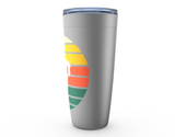 Hockey Sunset Silhouette Viking Tumbler Travel Mug