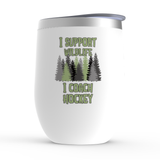 I Support Wildlife I Coach Hockey Stemless Wine Tumbler